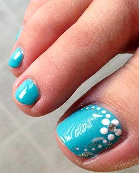 Pretty Nail, Blue, Flower Nail, Beach Toe Nail Designs, Toe, Beach, Cute, Design