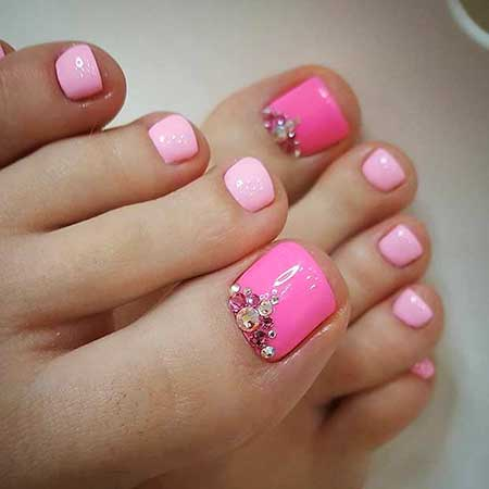 Pink, Pink Nails, Short Nails, Manicures