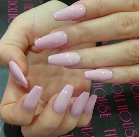 Coffin Nails, Pink, Pink Nails, Stiletto Nails, French