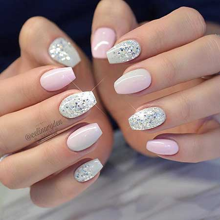 Stiletto Nails, Wedding Nails, Glitter, Light Elegance Summer 2017, Big