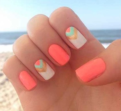 Summer Nails, Neon Nail, Accent Nail, Pink, Ongle En Gel Ete 2017, Short, Girls