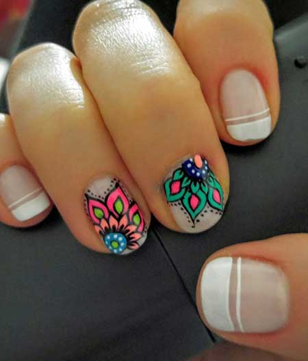 Summer Nails, Flower Nail, Nail Art Designs, Nail Decoration 2017, Idea, Art, Nail