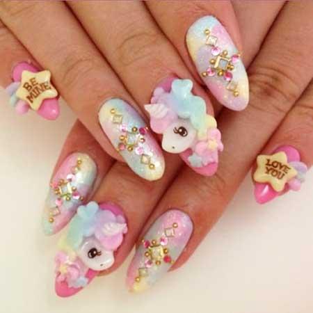 Wedding Nails, 3D Nails, Acrylic Nails, Pretty Nail, Nail Art Designs