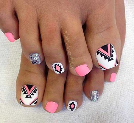 Toe Nail, Toenails, Chevron Toes, Toe Nail Designs, Summer Nails