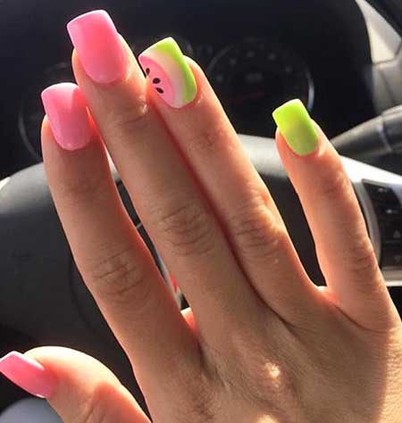 Stiletto Nails, Manicures, Neon Nail, Pink, Color, Summer Nails