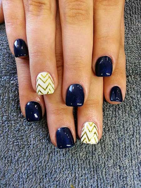 Blue Nails, Accent Nail, Purple Nail, Blue, Navy Blue Nail Designs, Easy, Summer