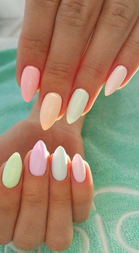 Stiletto Nails, White Nail, Summer Melons İndigo