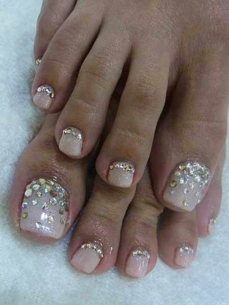 Toe Nail, Wedding Nails, Glitter, Gel Nails