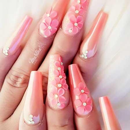 Design, Pink, Pink Nails, Acrylic Nails, Nail