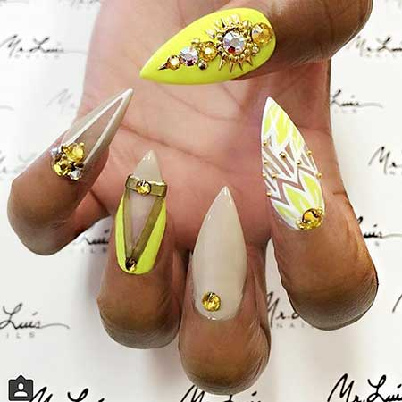 Stiletto Nails, Stilettos, Summer Nail Colors 2017