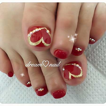Toe Nail, Christmas Nails, Toenails, Valentine Nail, Foot Gel Nail Spring, Nail