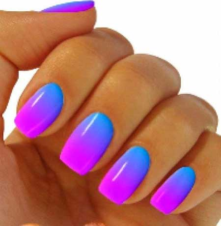 Ombre Nail, Summer Nails, Gradient Nails, Neon Nail, Ombre, Best Nail Designs 20