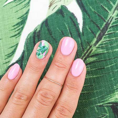Pink, Manicures, Polish, Summer Nails, Nail Art, Tree, 2017,