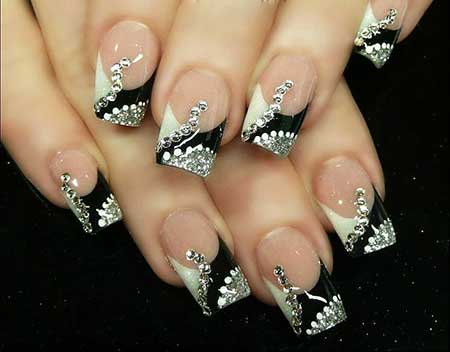 Luminous Nails, White Nail, Acrylic Nails, Pretty Nail, New Years Nail Designs