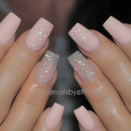 Glitter Nail, Nailsbyeffi, Acrylic Nails, Coffin Nails, Wedding Nails, Glitter