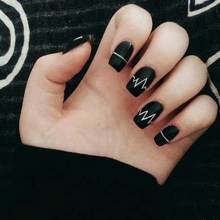 Black Nail, Easy Nail, Heartbeat Nail, Matte Nail