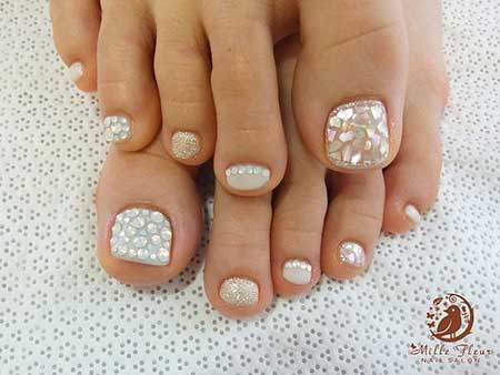 Toe Nail, Toenails, Pedicures, Toenail Design, Wedding Toes, Nail