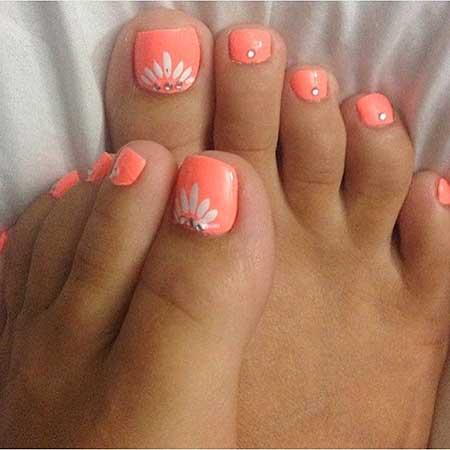 Toe Nail, Toenails, Wedding Toes, Pedicures, Pink, Toe Nail Designs 2017, Wedding