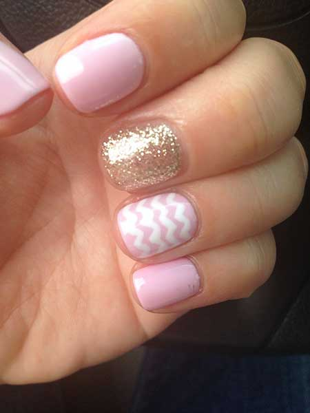Pink, Pink Nails, Glitter, Manicures, Glitter Nail, Accent Nail, Summer Gel Nails