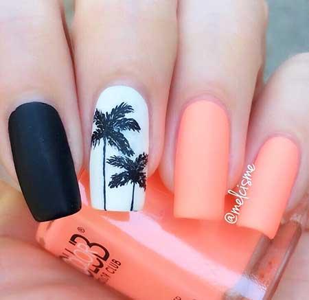 10 Best Palm Tree Nail Designs Nail Art Designs 2017