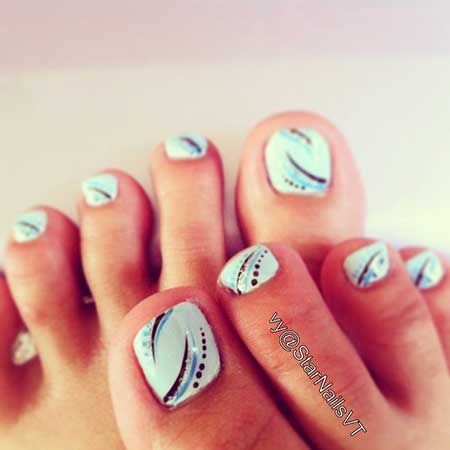 Toe Nail, Manicures, Nail Designs For Toes, Toes, Love
