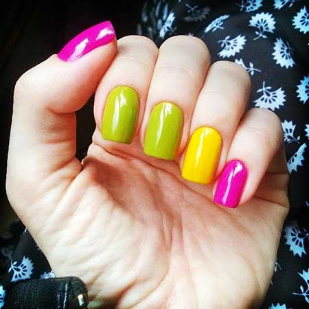 Neon, Yellow, Yellow Nails, Neon Nail, Summer Nails, Nail Polish, Manicures, Nail
