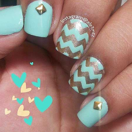 Chevron Nail, Summer Nails, Nails Nailart, Nails