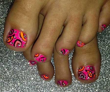 Toe Nail, Toenails, Pedicures, Painted Toes Pring Toenail Designs, Toe, Pink