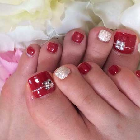Toe Nail S Nails, Valentine Nail, Red S, Toenails