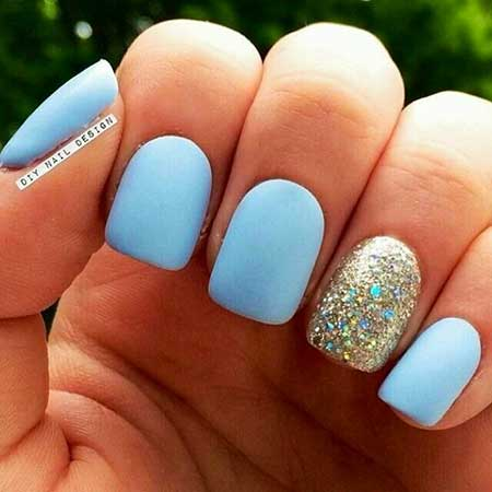 Easy Nail, Anchor Nail, Summer Nails, Glitter Nail, Daisy Nails