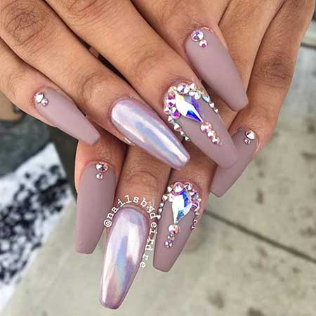 Coffin Nails, Stiletto Nails, Nails Design With Stones