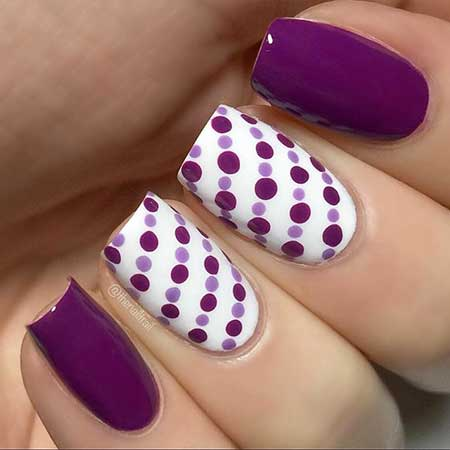 Polka Dots, Dot Nail, Dots, Rainbow Dots, Purple Nail Decoration, Purple