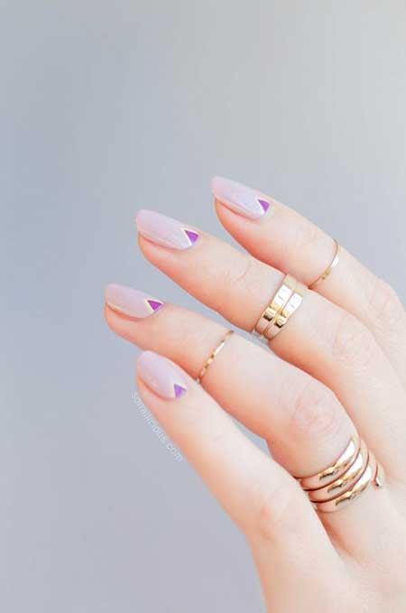 Manicures, Stiletto Nails, Lavender Nails, Korean Cute Nail Art, Summer, Art, Nail