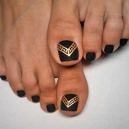 Cross Nail, Gold Nail, Tribal Nail, Tribal, Designs Of Toenails, Toe, Eye, Ideas