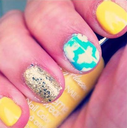 Nails Nailart, Summer Nails, Flower Nail, Polish, Nail