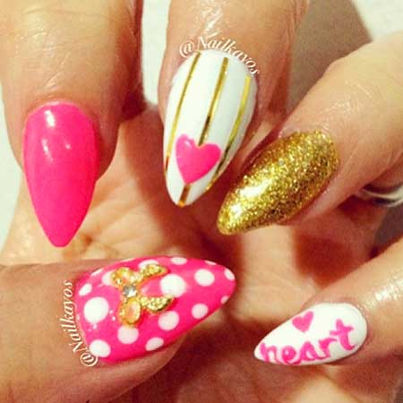 Pink Nails, Pink, Pretty Nail, Stiletto Nails, Summer Nails, Art, Nails