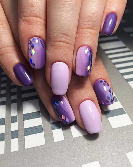 Purple, Manicures, Polish, Summer Nails, Design With Broken Glass, Cat, Art
