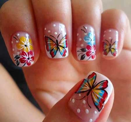Butterfly Nail, Butterflies, Spring Nails, Pretty Nail