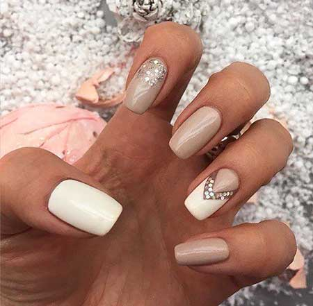 Coffin Nails, White Nail, Wedding Nails, Beige Nails, Beige, White, Best, Gallery