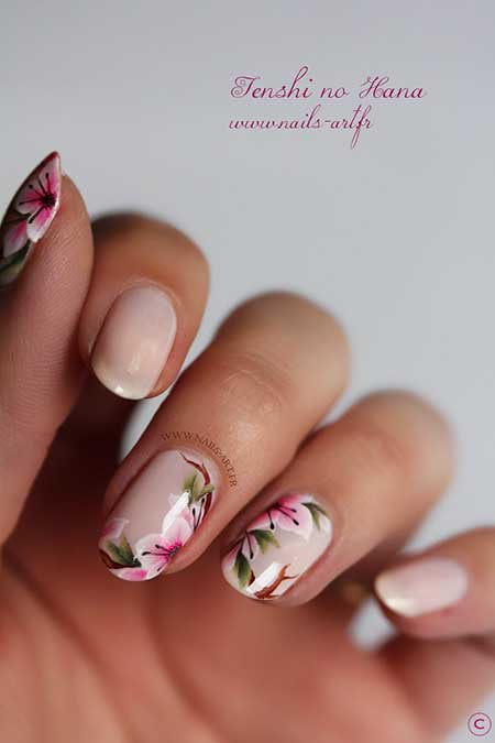 Wedding Nails, French Manicure, Lace Nail, Flower Nail, Manicures