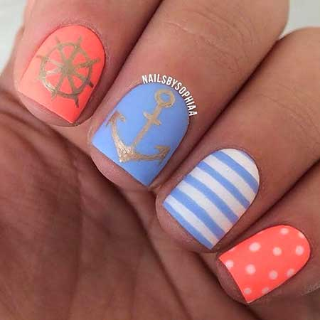Summer Nails, White Nail, Summer 2017 Nail Colors, 2017, Christmas, Summer, Art
