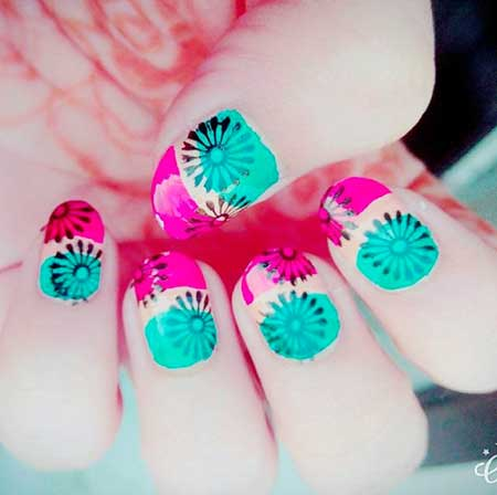 Dye Nail, Summer Nails, Neon, Neon Nail, Nail Polish, Colorful, Summer, Art, Nails