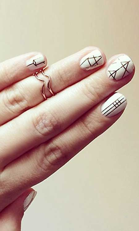 White Nail, Black Nail, Simple Geometric Nail Art, Best, Art, Nail