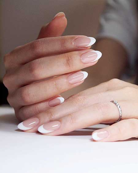 French, Manicures, Pink, Nudes, Pink Nails, French Manicure, Oval, French, White, Nails