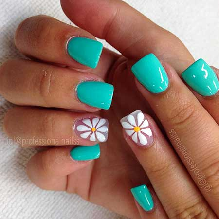Gel Nails, Summer Nails, Nail Color, Spring Nails, Flowers, Heart