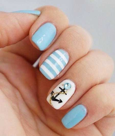 Nautical Nail, Summer Nails, Anchor Nail, Sailor Nails, Summer Nail Designs 20