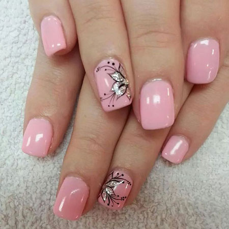 Flower Nail Art Design, Nails Nail Flower Sparkly