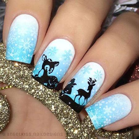 18 Snowflake Nail Designs Nail Art Designs 2017