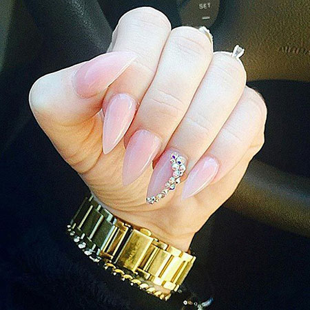 Nail Nails Stiletto Nude