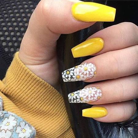 Nails Nail Yellow Nailart